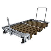 Carrello da trasporto / in acciaio galvanizzato / a paletta
