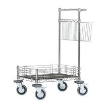 Carrello di pulizia / in acciaio / con rotelle