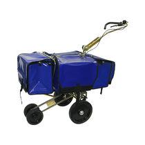 Carrello per smistamento e distribuzione di posta / in acciaio / porta-contenitori