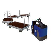 Carrello da trasporto / in acciaio / a piattaforma / per cassa-pallet