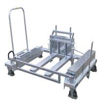 Carrello per movimentazione / in acciaio / per attrezzature di trasporto a rotelle / multiuso