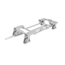 Carrello da trasporto / in acciaio zincato / per contenitore portarifiuti