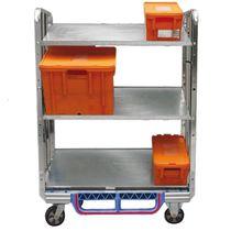 Roll-container per pacchi / a ripiani / con base plastica