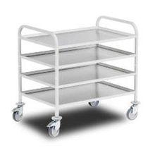 Carrello di servizio / in alluminio / in acciaio inossidabile / a ripiani