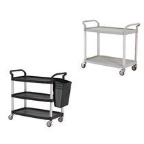 Carrello di servizio / in plastica / in alluminio / a ripiani