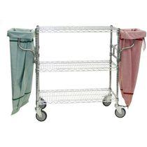 Carrello di stoccaggio / in acciaio / 3 livelli / con piattaforma a griglia