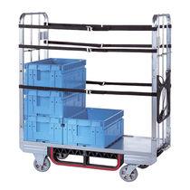 Carrello per movimentazione / da trasporto / in acciaio / 1 livello