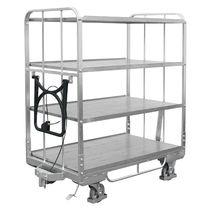 Carrello per movimentazione / in plastica / a ripiani / per contenitore di stoccaggio