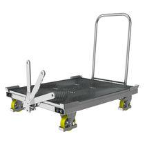 Carrello da trasporto / in acciaio / in acciaio galvanizzato / a piattaforma