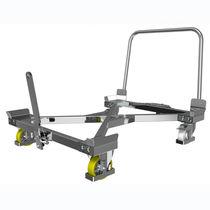 Carrello in acciaio / in acciaio galvanizzato / a piattaforma / per cassa-pallet