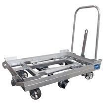 Carrello in acciaio / a piattaforma / per cassa-pallet / per contenitori Euro
