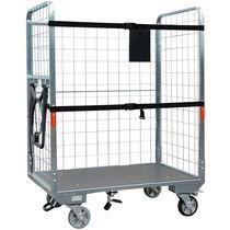Roll-container per pacchi / in metallo / 3 pannelli