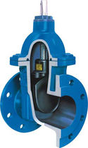 Valvola a saracinesca / pneumatica / di distribuzione / per acque reflue