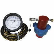 Indicatore di pressione a doppia scala / a membrana / per fango / in linea