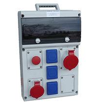 Scatola elettrica attrezzata / portatile / in termoplastica / per cantiere