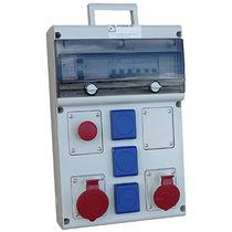 Scatola elettrica attrezzata / a muro / in termoplastica / per cantiere
