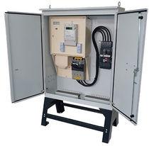 Armadio di misurazione elettrica / da terra / a doppie porte / in acciaio