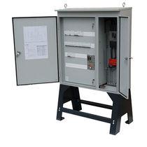 Armadio di distribuzione elettrica / da terra / a doppie porte / in acciaio