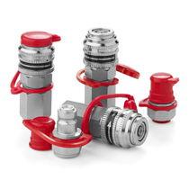 Raccordo rapido / dritto / idraulico / in acciaio zincato