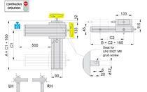 Posizionatore manuale / lineare / 2 assi / a vite senza fine