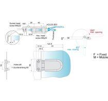 Cerniera in acciaio inossidabile / invisibile / avvitabile / 180°