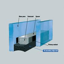 Colla al silicone / bicomponente / resistente al taglio / per vetro