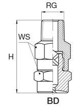 Ugello di polverizzazione / a cono pieno / per liquidi / in acciaio inossidabile