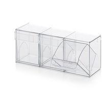 Sistema modulare di stoccaggio con cassetti trasparenti