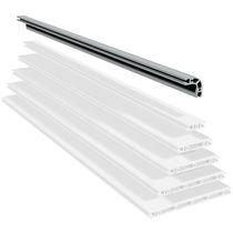 Profilato in alluminio / con scanalature