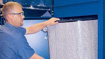 Collettore per nebbia per olio / a materiale filtrante