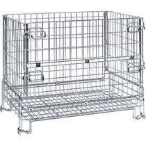 Cassa-pallet in rete metallica / di stoccaggio / per applicazioni alimentari / pieghevole