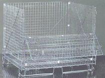 Cassa-pallet in rete metallica / di stoccaggio / pieghevole / accatastabile
