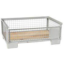 Cassa-pallet in rete metallica / di stoccaggio / leggera / per carichi pesanti