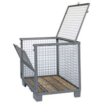Cassa-pallet in rete metallica / di stoccaggio / con coperchio / bloccabile