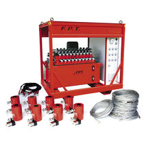 Sistema di sollevamento sincrono / per carichi pesanti / idraulico