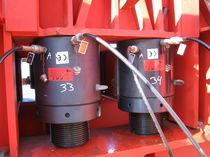 Cilindro idraulico / a doppio effetto / compatto / filettato