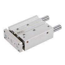 Cilindro pneumatico / a doppio effetto / in alluminio anodizzato / compatto