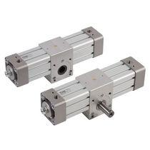 Cilindro rotativo / pneumatico / a doppio effetto / con pignone e cremagliera
