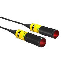 Sensore fotoelettrico a riflessione diretta / retroriflettente polarizzato / cilindrico / luce rossa