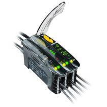 Sensore fotoelettrico rettangolare / luce rossa / in fibra ottica / digitale