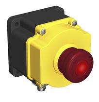 Pulsante unipolare / luminoso / per montaggio a filo / di arresto di emergenza