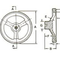 Volante di manovra / a razze / in alluminio