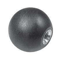 Manopola filettata / sferica / in ottone / in plastica