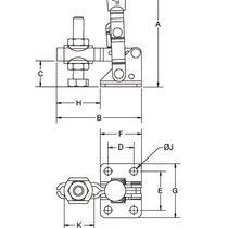 Attrezzo di bloccaggio verticale / in acciaio inossidabile
