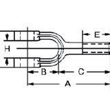 Testa di forcella con filettatura esterna / in acciaio