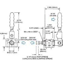 Attrezzo di bloccaggio verticale / a pressione