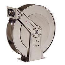 Avvolgitore per tubo / a richiamo automatico / su staffa / con doppio piedistallo