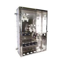 Scatola a parete / rettangolare / in acciaio inox / per distribuzione elettrica