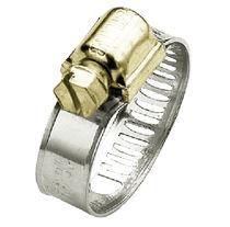 Fascetta stringitubo in acciaio zincato / a vite / a nastro perforato
