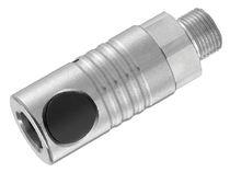 Raccordo rapido / dritto / pneumatico / in acciaio